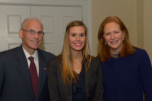 Kristen Helmers, a first-year-student at Villanova Law School, has been named a Lurio Scholar